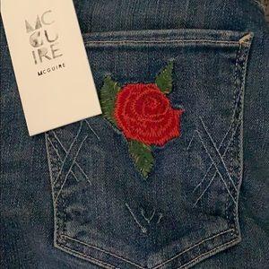McGuire Denim Jeans - NWT McGuire Denim Newton Skinny (rose detail)